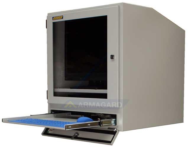 Компьютерный шкаф - с открытой полкой