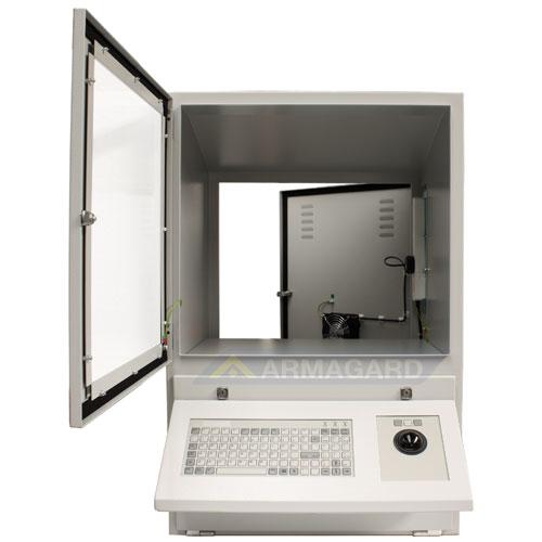 Компьютерный Корпус - с открытыми дверями клавиатуры