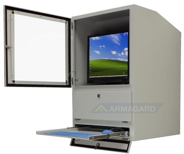 Компьютерный Корпус - с открытой полкой для клавиатуры