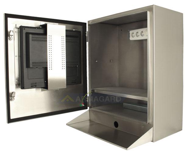 Водонепроницаемый узкий компьютерный корпус SENC-700 - вид сбоку открыт