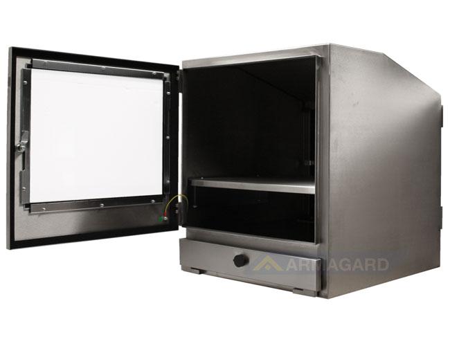 Корпус ПК из Нержавеющей Стали боковое изображение с открытой дверцей