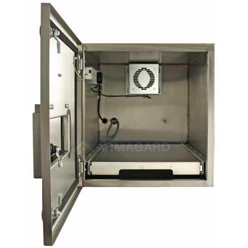 Принтерный корпусa - переднее изображение с открытой дверью